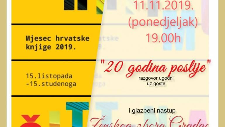"""Dan hrvatskih knjižnica """"20 godina poslije"""" u OkHsG"""