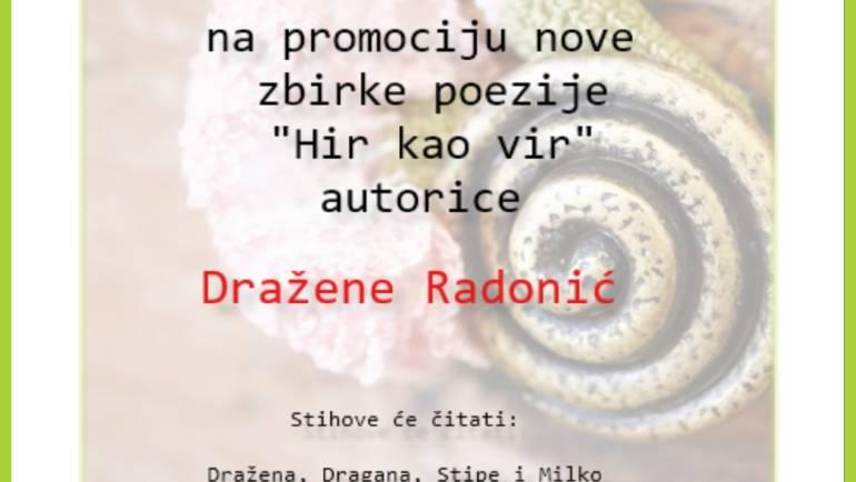 Poetsko veče s Draženom Radobnić