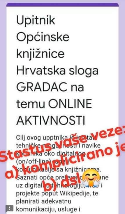 Upitnik OkHsG na temu online aktivnosti građana